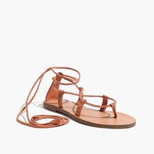 Madewell the Boardwalk Lace-Up Sandals in Suede